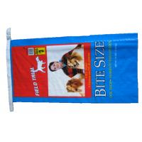 Buy cheap Single Stitched Plastic Feed Bags , Recycle Dog Food Bag 25 Kg Moisture Proof product