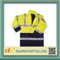 Buy cheap Hi Viz High Visibility Winter Protection Reflective Safety Coat Security Clothing Polyster & Oxford product