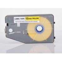 Wire Marking Label Maker Tape Laminated Industrial Customized , Yellow