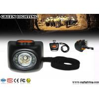 Buy cheap 4000 Lux Brightness Mining Cap Lights With OLED Display 4.5Ah Li - Ion Battery product