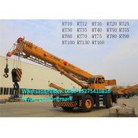 Buy cheap 5-Section U-Arm Design XCMG RT70 70 Ton 4x4l Rough Terrain Tractor Crane 450mm Ground Clearance product