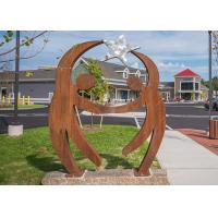 Buy cheap Outdoor Corten Steel Sculpture Modern Park Welcome Metal Figure Rusty Finish product