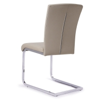 Buy cheap Steel Frames Leather Seat 4 Pcs Modern Metal Dining Chairs product