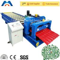 Buy cheap Simens PLC control Roofing Glazed Tile Roll Forming Machine 45# Steel Roller product