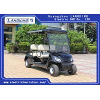 Buy cheap Black color 4 seaters  Powerful Electric Club Car  Golf Buggy Steel Framework for hotel/ Park product