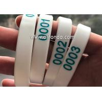 Buy cheap Numbers silicone wristband custom numbers series silicone wristband for sport meeting travel bidding hospital hotel product