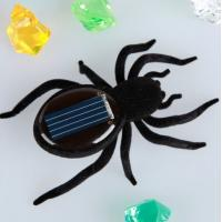China Portable Solar Powered Gadgets Plastic Black Viberating Spider Solar Toys on sale