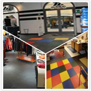 Buy cheap 3W Plastic Vinyl PVC Anti-slip Interlocking Shoping flooring Mats product