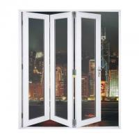 Buy cheap Waterproof Aluminum Frame Folding Glass Patio Doors With Louver product