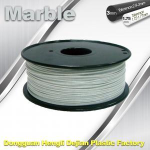 Buy cheap Marble 3D High Strength Printer Filament 3mm / 1.75mm , Print temperature 200°C - 230°C product