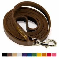 Buy cheap Water Resistant Heavy Duty Leather Dog Leads Handmade Full Grain 14 Inches Long product