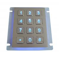 Buy cheap 12 keys IP67 dynamic vandal proof Stainless Steel industrial backlight keypad product