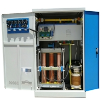 Buy cheap SBW-400KVA Three Phase AC Manufacturer Servo Motor Type Automatic Compensated Voltage Regulator product