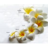 China Wholesale EVA Foam Plumeria Flowers Artificial Frangipani Real Touch Plumeria Flowers for Hat Decoration on sale