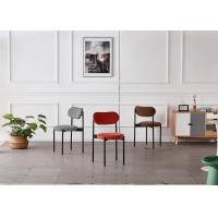 Buy cheap Stacking 43x43x79CM Sturdy Dining Room Chairs With Metal Legs product