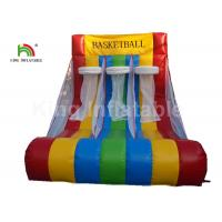China Red Triple Basketball Hoop Shoot Inflatable Sports Games For Rent Fire - Retardant on sale
