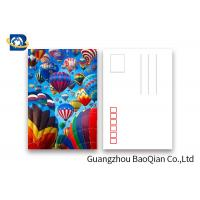Buy cheap Coloful Hot Air Balloon 3D Lenticular Postcards PET / PP Similar To Holograms product