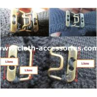 Cheap Decoration Sewing Hooks And Eyes / Polished Metal Hook And Eye For Pants wholesale