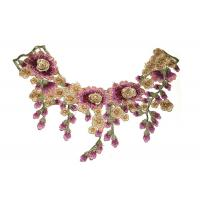 Buy cheap Variegated Ethnic Characteristics Crochet Lace Collar For Lace Ribbon Trim product