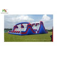 Buy cheap 4 Lane Inflatable Sports Games / Military Boot Camp Obstacle Course product