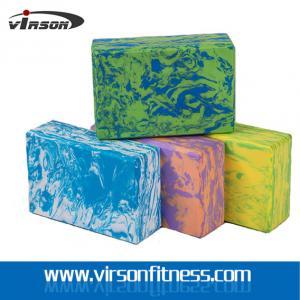 Virson OEM Custom Logo Print Colourful High Density EVA Foam Yoga Block& Yoga Bricks