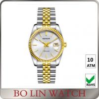 Buy cheap 5 ATM Water Resistant Real Gold Diamond Watches , Vintage Ladies 18 Karat Rose Gold Watch product