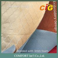Buy cheap 130 Gsm Weight 150cm Width Faux Suede Fabric Plain Embroidery Dots Surface product