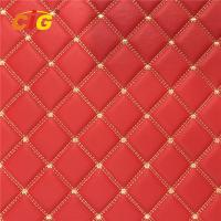 Quality Embroidery PU PVC Leather With High Density Foam With Non-woven For Car Seat Car for sale