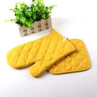 Buy cheap Yellow Color AZO Free Customized Logo Printed Kitchen Oven Mitts / Silicone Oven Glove product