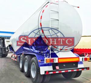 Buy cheap 55 000 Liters Bulk Cement  Tank Semi Trailer Three Axles Leaf Spring Suspension product
