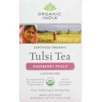 Buy cheap Organic India Tulsi Tea Raspberry Peach, 18Tea Bags product