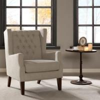 Buy cheap Lounge Arm Accent Chair , Cream Occasional Chair With Solid Frame Construction product