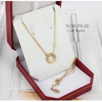 Buy cheap 18K Luxury Gold Jewelry Love Necklace 18K Gold Love Ring Pendant with 2 Diamonds B7219500 product