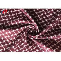 China Free Sample Polyester Lycra Jersey Fabric ,  Weft Knitted Printed Fabric For Sportswear on sale