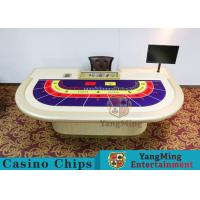 Buy cheap Entertainment Casino Poker Table For 9 Players 2600*1470*800mm from wholesalers
