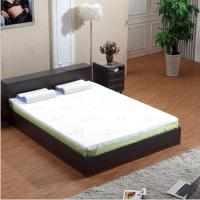 China Bamboo Fiber Memory Foam Mattress Topper White Color Compressed Queen Size on sale