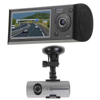 Buy cheap VGA 640 x 480P Double Lens Car Video Recorder with GPS , Record Driving Track product