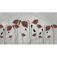 Buy cheap Sound Sbsorption Bamboo Fiber Internal Wall Panels Modern Blooming Flowers product