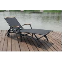 Buy cheap Poolside / Lawn / Garden Lounger Chairs With Wheel , Sun Lounge Furniture from wholesalers