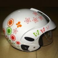 Buy cheap Children's Half Open Face Helmet, Made of ABS/PP, with Anti-scratch PC Visor from wholesalers