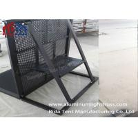 Buy cheap Concert Mojo Crowd Control Barriers , Foldable Steel Barricades Crowd Control product
