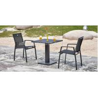 Buy cheap Outdoor Metal Wicker Bistro Table And Chairs , Aluminum Bistro Set from wholesalers