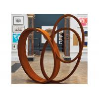 Buy cheap Large Art Craft Modern Ribbon Corten Steel Garden Sculpture Contemporary Metal Sculpture product