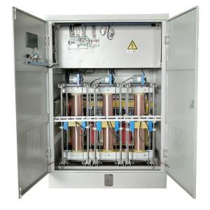 Buy cheap Three Phase SBW-F-250KVA Metallic Copper Servo Motor Type Full Automatic Voltage Stabilizer product