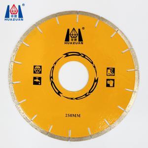 China HUAZUAN 250mm diameter free chip marble diamond cutting discs on sale