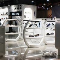 Buy cheap Beautiful retail lady shoe shop design with customized size product