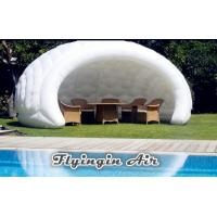 White Inflatable Semicircular Booth, Advertising Inflatable Tent for Conference