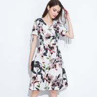 China 89D18008 Large Size Summer Fresh And Fashionable Cotton And linen Dress on sale