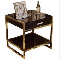 Buy cheap High End Hotel Bedside Tables 1 Drawer For 5 Star , Marble Top Nightstand product