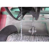 Buy cheap High Speed Barbed Wire Manufacturing Machine , High Accuracy Barbed Wire Fencing Machine product